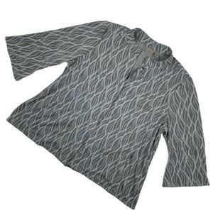 Chico's Women 2 | Large Top Button Down Gray
